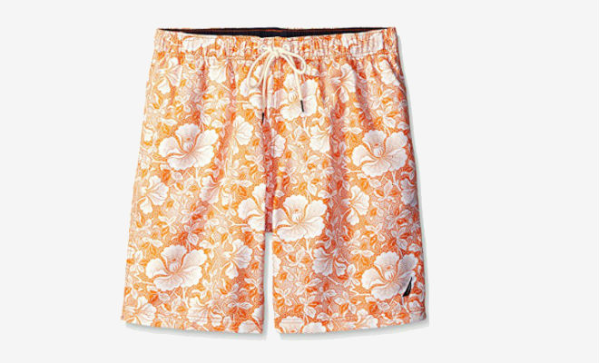 Nautica Mens Big and Tall Quick Dry Tropic Floral Swim Trunk